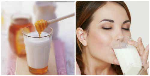 Drink melk met honing voor het slapengaan