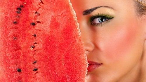 Watermeloen voor het Gezicht
