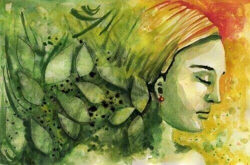 schilderij van een vrouw