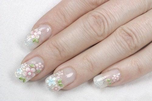 Nagels met Bloemen