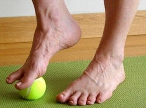 Rekoefening met bal