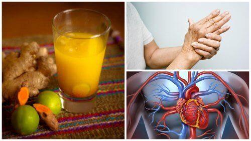 8 voordelen door het drinken van kurkumasap