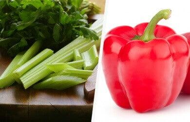 Selderij en paprika