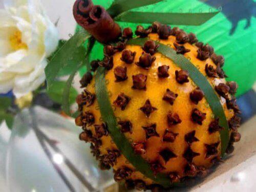 Sinaasappel met Kruidnagel tegen huisvliegen