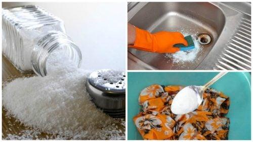 schoonmaaktrucs met zout