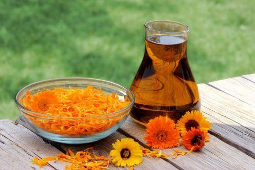 Olijfolie en goudsbloem