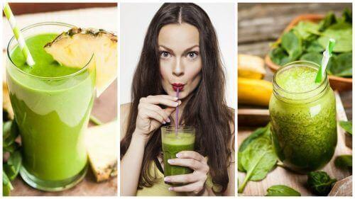 5 groene smoothies om je lichaam te ontgiften en gewicht te verliezen