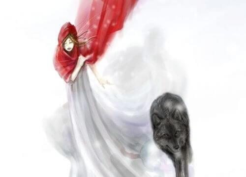 Roodkapje en een wolf