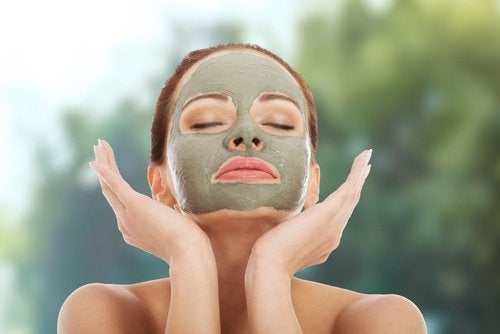 Groen gezichtsmasker