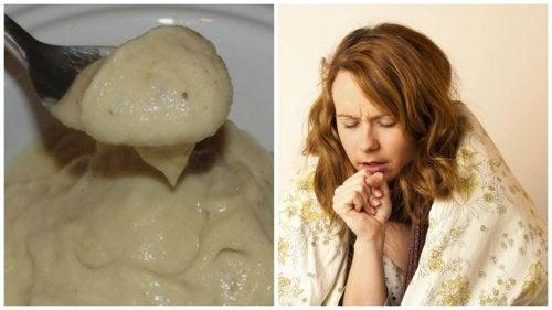 Maak zelf deze crème tegen hoest en verkoudheid met banaan en honing
