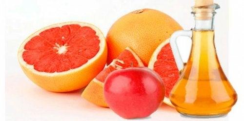 Sinaasappel, grapefruit en appelazijn