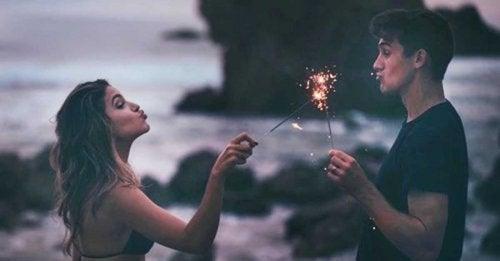 Man en vrouw met sterretjes