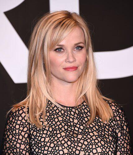 Reese Witherspoon met hartvormig gezicht