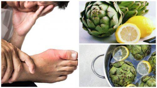 Urinezuur verwijderen met een drankje van artisjok en citroen