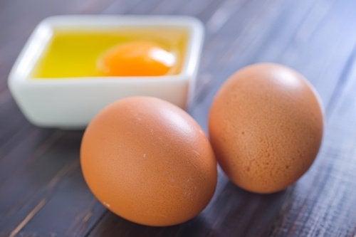 Eieren voor een masker
