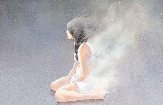 Vrouw in het wit