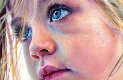 Meisje met blauwe ogen