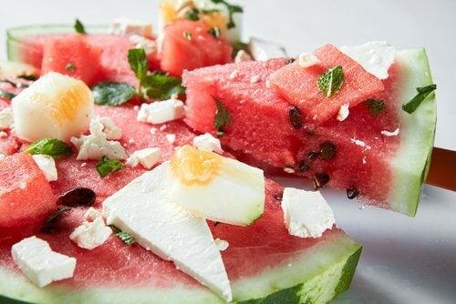 Salade met watermeloen