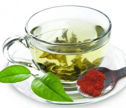 Groene thee met kruiden