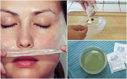 Masker van melk en gelatine om mee-eters te verwijderen