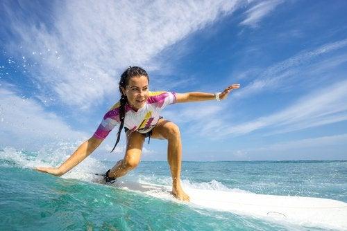Surfen voor gezonde hersenen