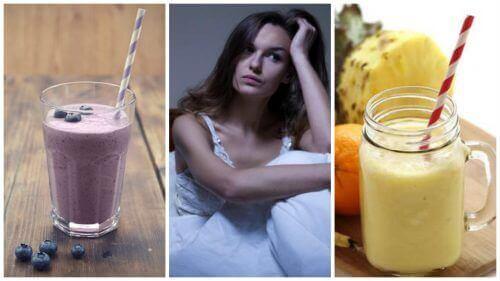 5 natuurlijke smoothies die je helpen tegen nachtelijke opvliegers