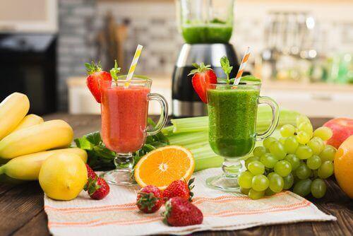 Reinigingskuur met fruit en groenten