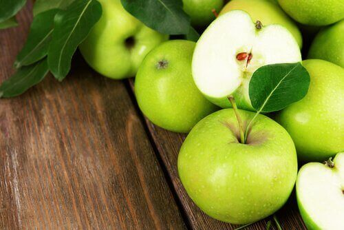 Reinigingskuur met groene appels