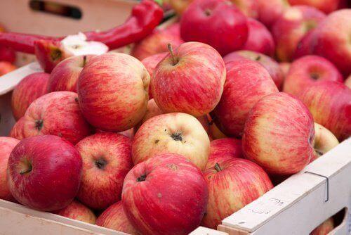 Appels om de lever te verzorgen