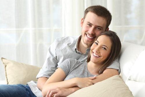 Gelukkige relatie en gevoelens