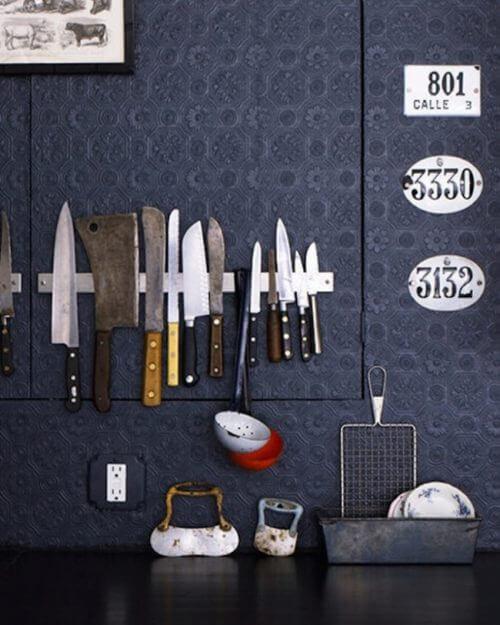 Huis op orde keukenmessen
