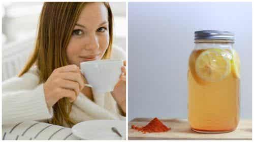 Citroenwater met kurkuma voor het welzijn van je lichaam