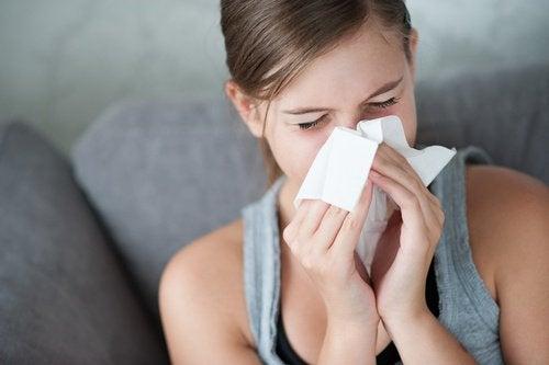 Nat haar en verkoudheid