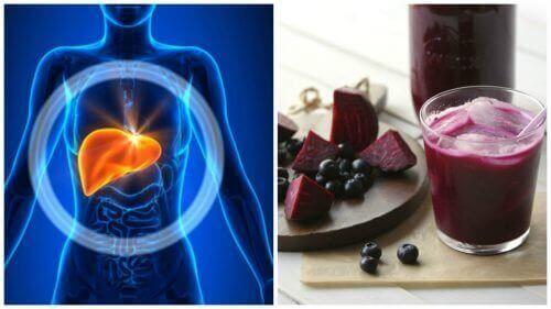 Smoothie met bosbes en rode biet om je lever te ontgiften
