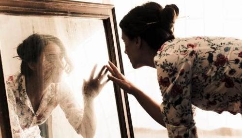 Wazige spiegel