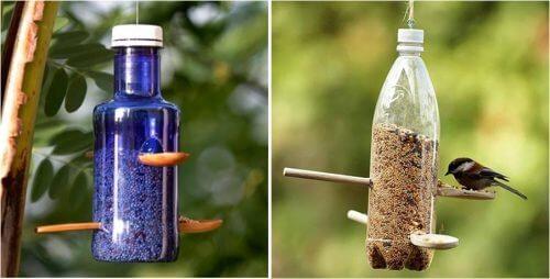 Fles recyclen tot voerbakje