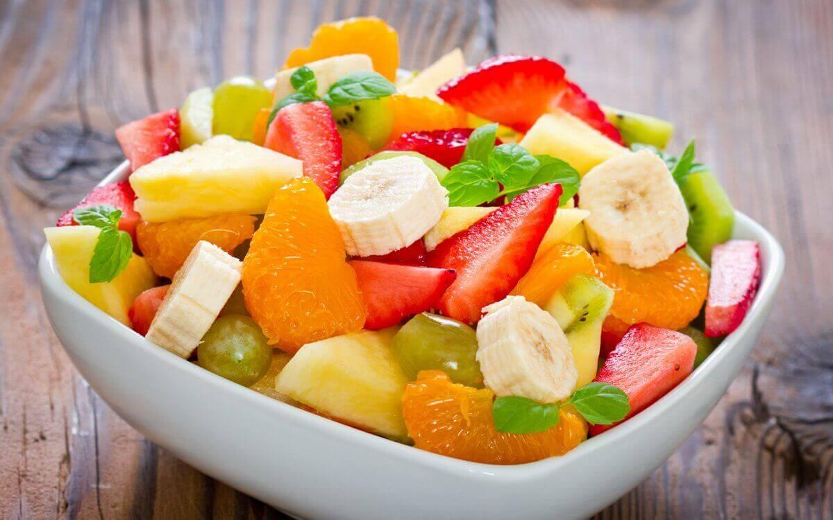 Wel of geen fruit bij het avondeten
