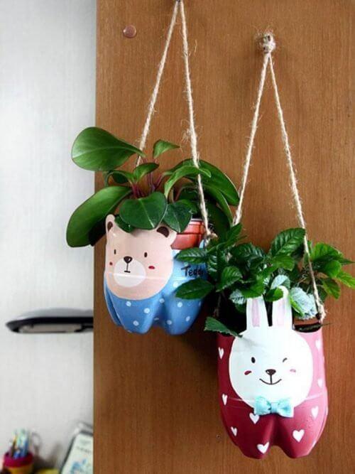 recyclen tot plantenhanger