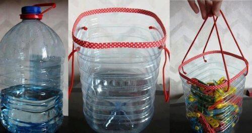 Recyclen tot een mandje