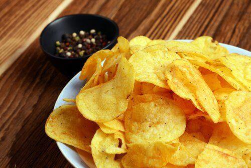 Chips kunnen zuurbranden veroorzaken