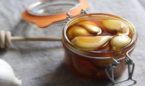 Mengsel van knoflook en honing maken