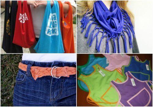 Hoe kan je oude katoenen T-shirts recyclen?