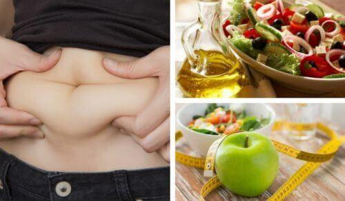 Vrouw die aan een dieet begint