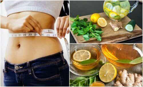 Opgeblazenheid tegengaan en gewichtsverlies bevorderen met gember en citroen