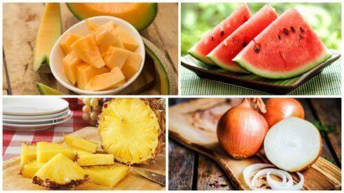Verschillende gezonde voedingsmiddelen