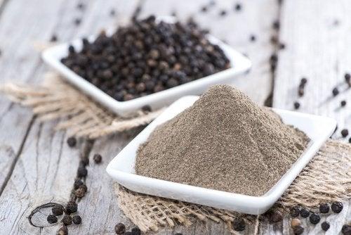 Je kan zout vervangen door zwarte peper