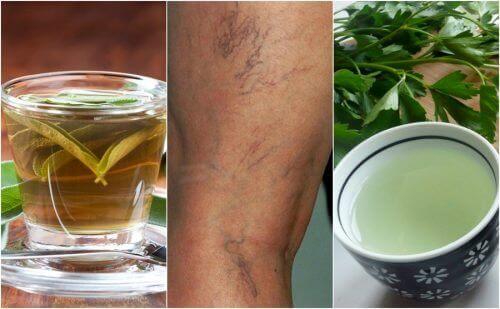 Spataderen behandelen met deze vochtafdrijvende theeën