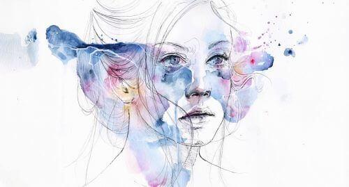 Vrouw die droevig is en lijdt aan een zware depressie