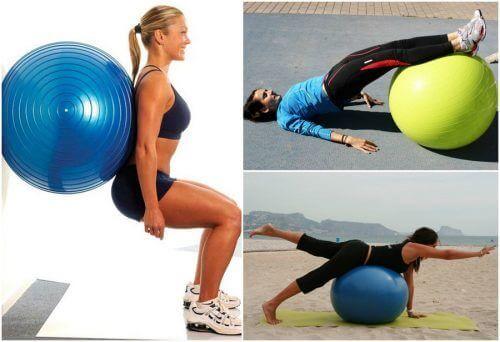 Train je bilspieren: enkele fantastische oefeningen met een fitnessbal!