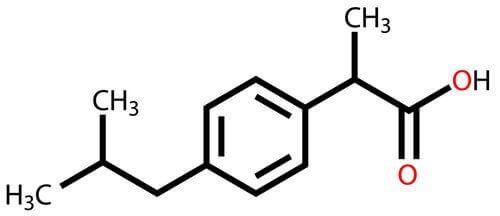Ibuprofen chemische samenstelling